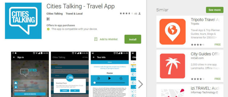 Cities Talking App